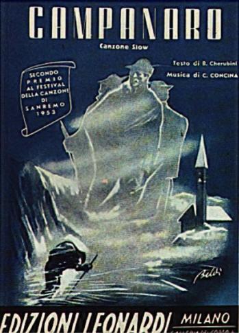 FESTIVAL DI SANREMO 1953: I CANTANTI - LE CANZONI - I TESTI CAMPANARO%20(spartito)