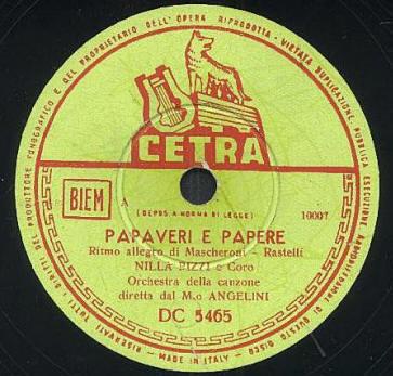 FESTIVAL DI SANREMO 1952: I CANTANTI - LE CANZONI - I TESTI PAPAVE2