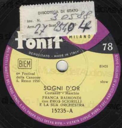 Festival di sanremo 1956 i cantanti le canzoni i testi - Franca raimondi aprite le finestre ...
